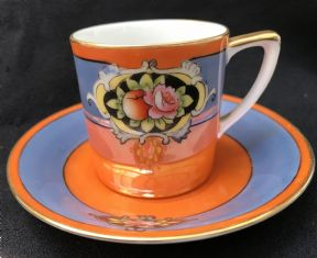 Eye catching NORITAKE espresso can & saucer